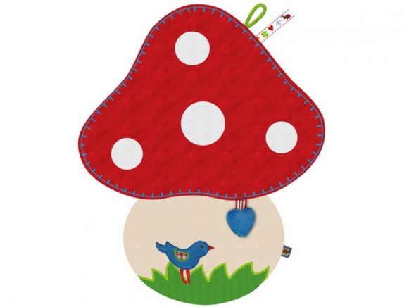 Fly agaric shaped smooch cloth by Spiegelburg