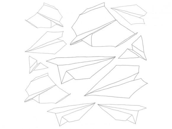 Sebra Wallsticker In the Sky Paperplanes