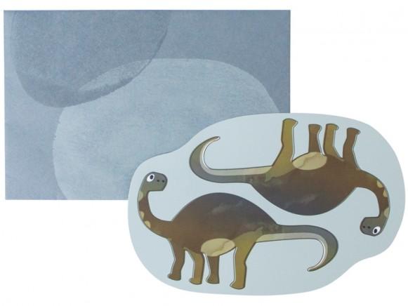 Sebra greeting card Dino