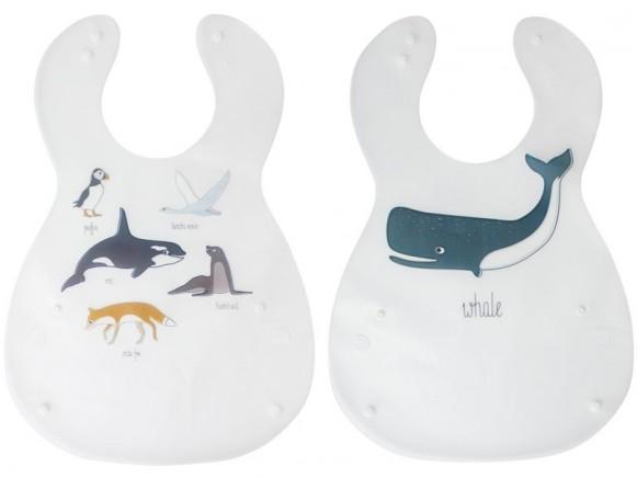 Sebra bib set ARCTIC ANIMALS