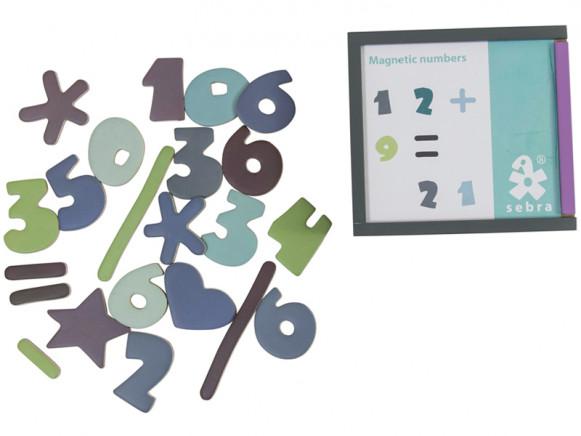 Sebra magnetic numbers boy colours