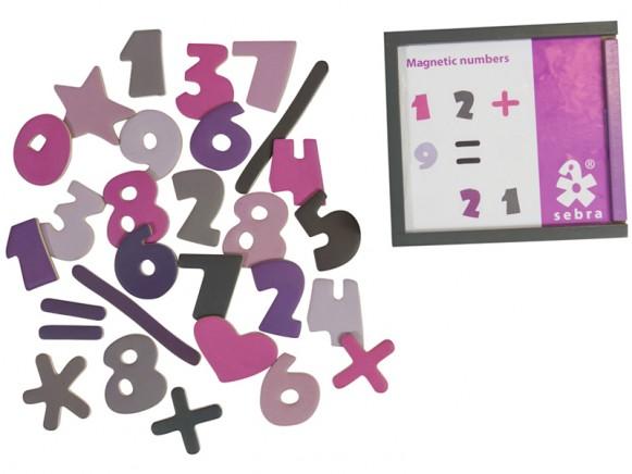 Sebra magnetic numbers girl colours