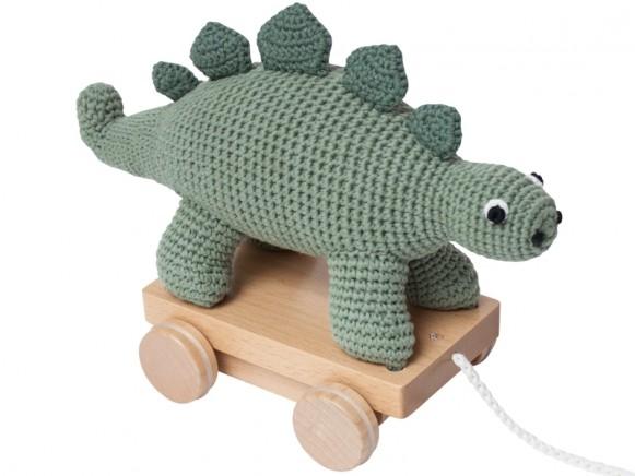 Sebra crochet pull-along toy DINO