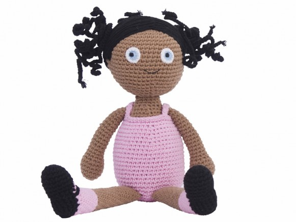 "Crochet doll ""Violet"" by Sebra"