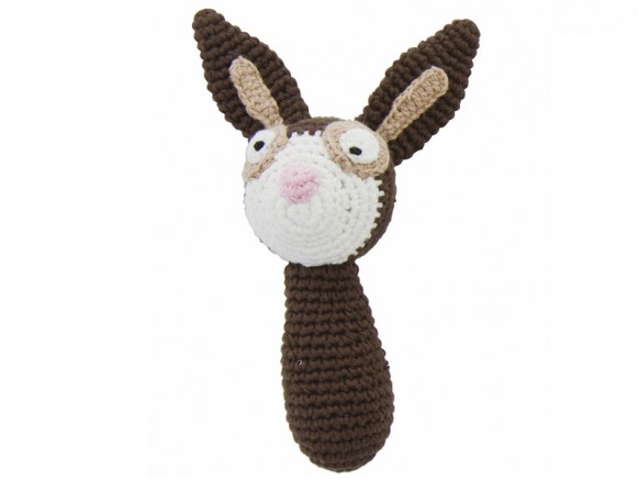 Crochet rattle rabbit by Sebra