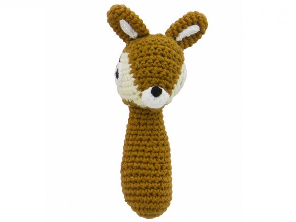Crochet rattle deer by Sebra