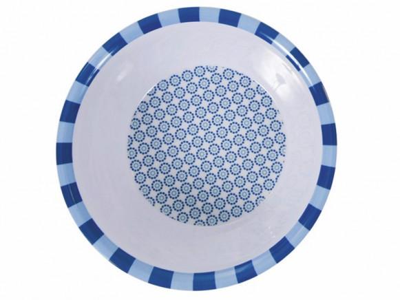 Melamine bowl with blue pattern by Sebra