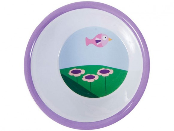 Sebra melamine bowl with landscape
