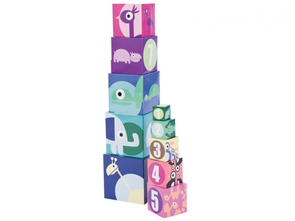 Stacking boxes with zoo animals by Sebra