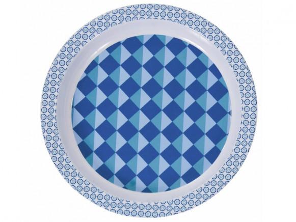 Blue melamine plate by Sebra