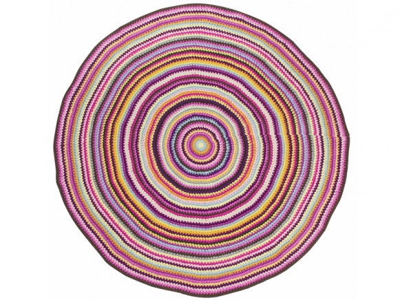 Sebra floor mat in multicolour for girls