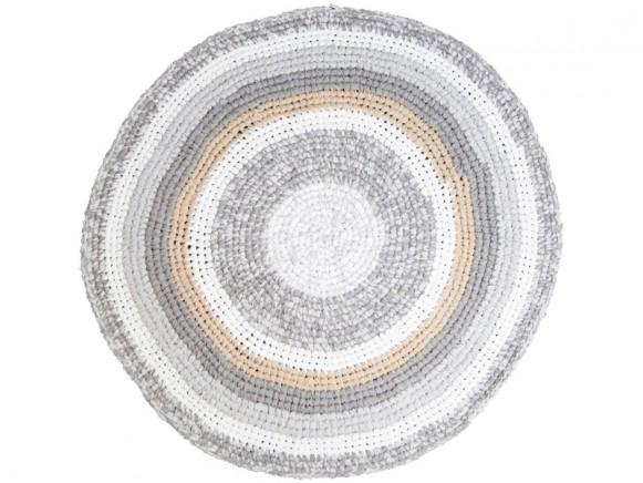 Sebra crochet carpet feather beige melange