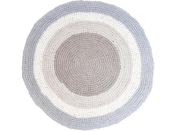 Sebra crochet carpet feather beige