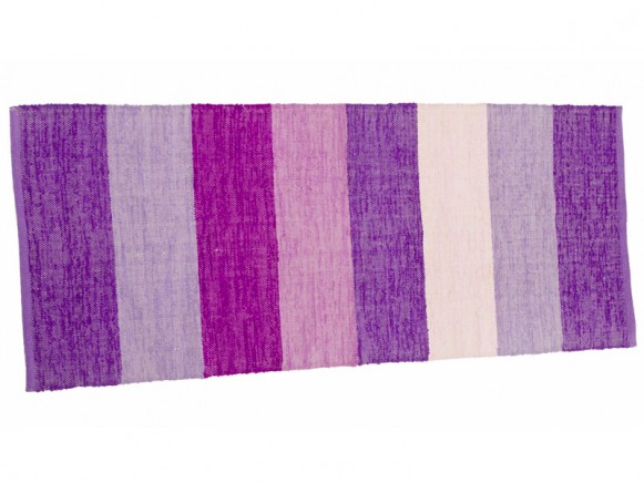 Woven mat with purple stripes by Sebra