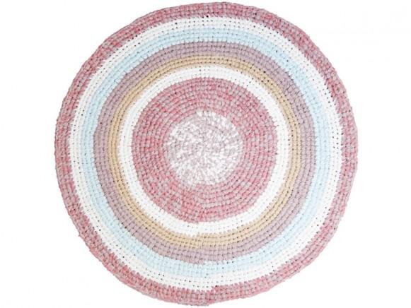 Sebra crochet carpet powder rose melange