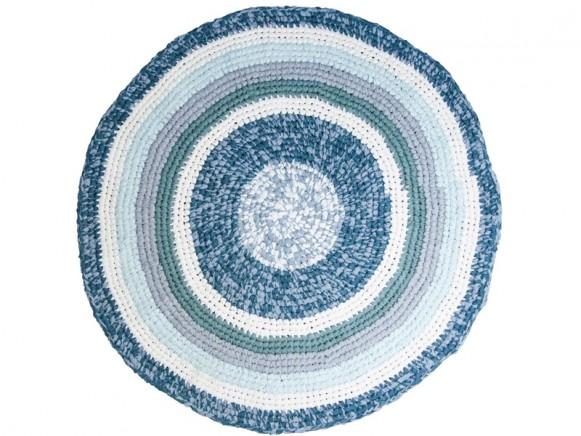 Sebra crochet carpet dove blue melange