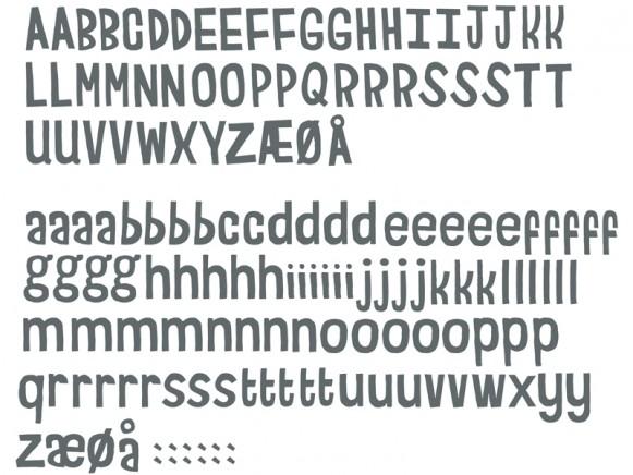 Sebra wallsticker letters grey