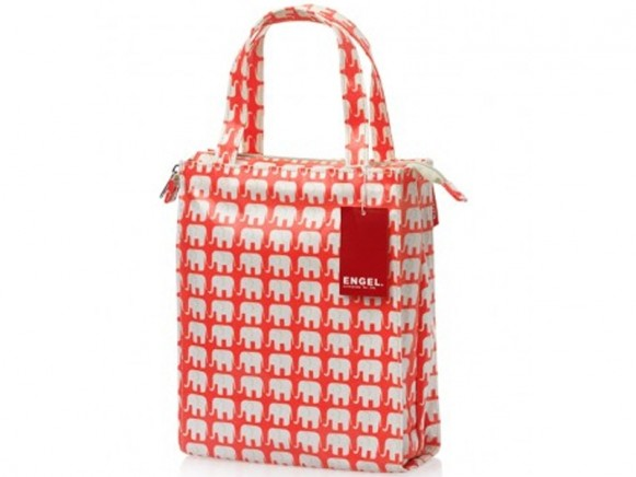 Engel Shopper small ELEPHANTS neon orange