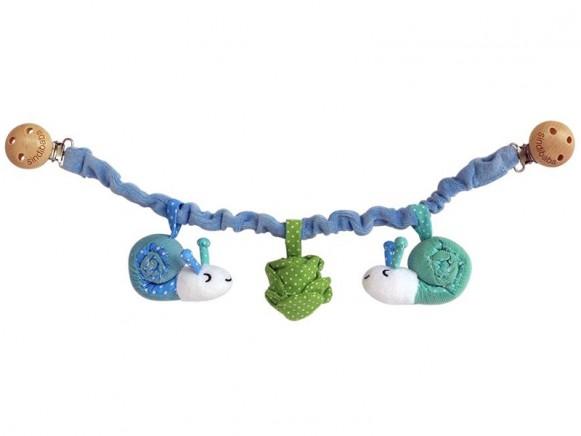 Sindibaba stroller chain snail blue green