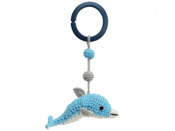 Sindibaba Crochet Pram Clip DOLPHIN BLUE (LINK)