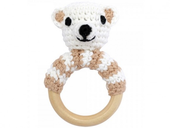 Sindibaba bear rattle ring