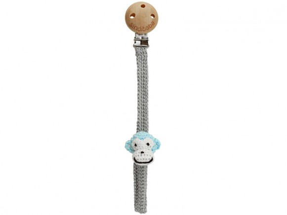 Sindibaba dummy holder MONKEY BLUE