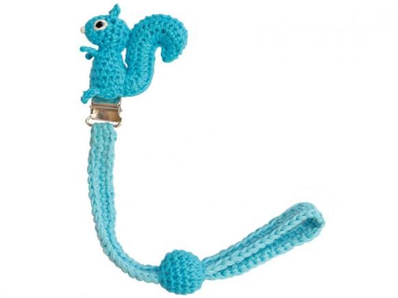 Sindibaba dummy holder squirrel light blue