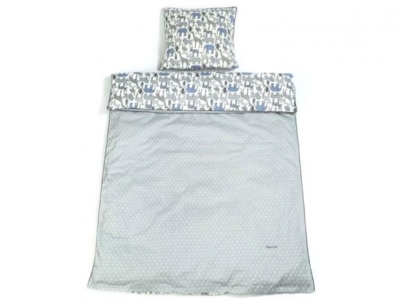 Smallstuff Reversible Bedding Animals soft denim