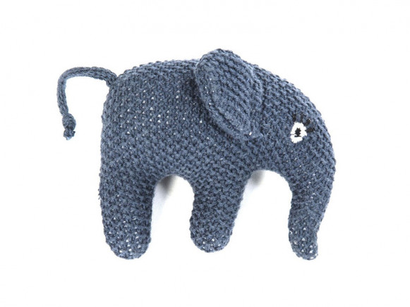 Smallstuff Rattle ELEPHANT blue