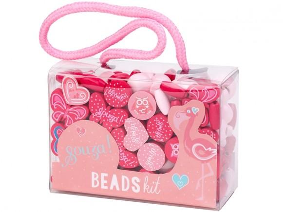 Souza Beads Kit PINK CORAL