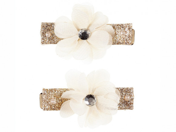 Souza Hair Clips FLOWER Adina White