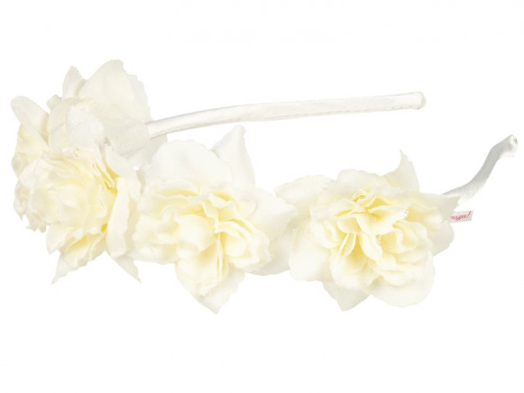 Souza Hair Band LIKE with Blossoms white