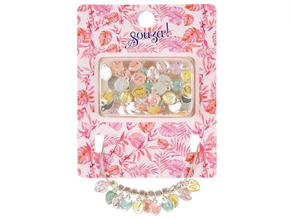 Souza Charm Necklace ABC pastel