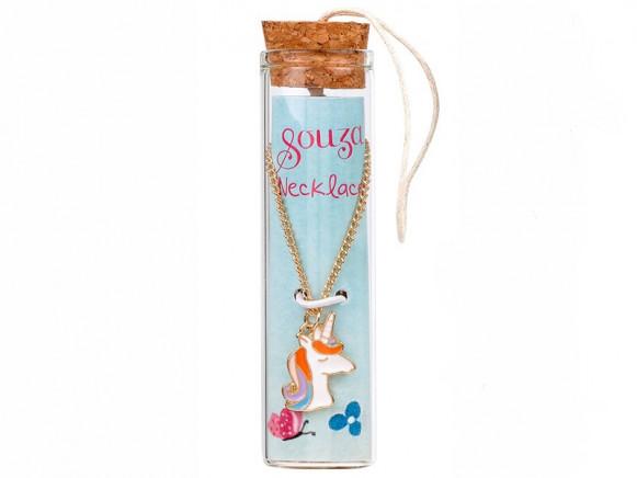 Souza Charm Necklace in Bottle UNICORN