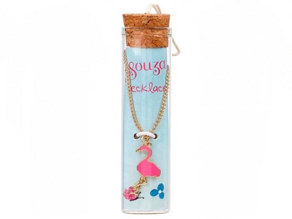 Souza Charm Necklace in Bottle FLAMINGO