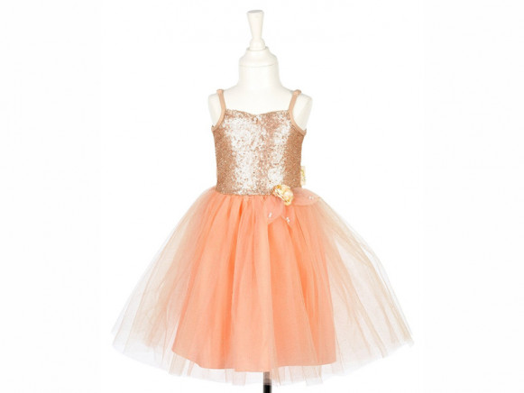 Souza Costume Ball Gown GISELLE apricot 3-4 yrs