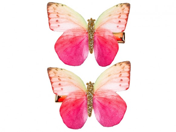 Souza Hair Clips BUTTERFLY pink