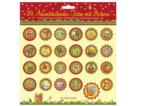 Advent calendar bags with stickers by Spiegelburg