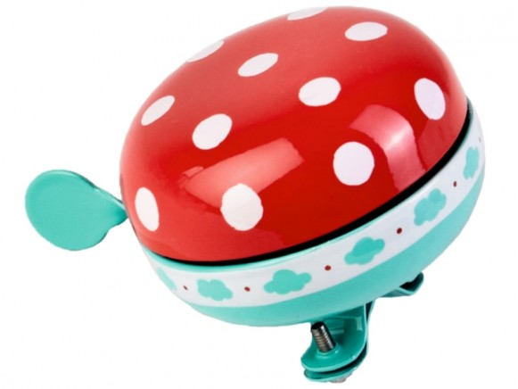 Bicycle bell large DOTS RED large