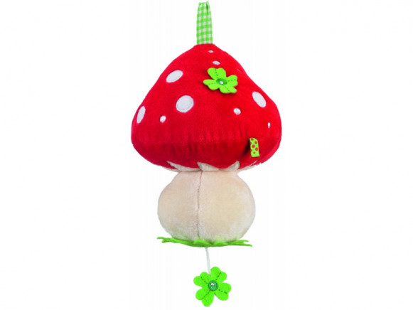 Fly agaric shaped musical clock by Spiegelburg