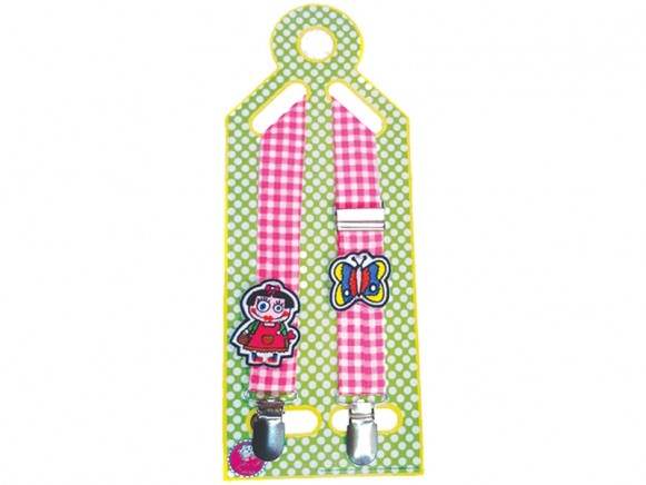 Supersoso Pacifier Towel holder GIRL