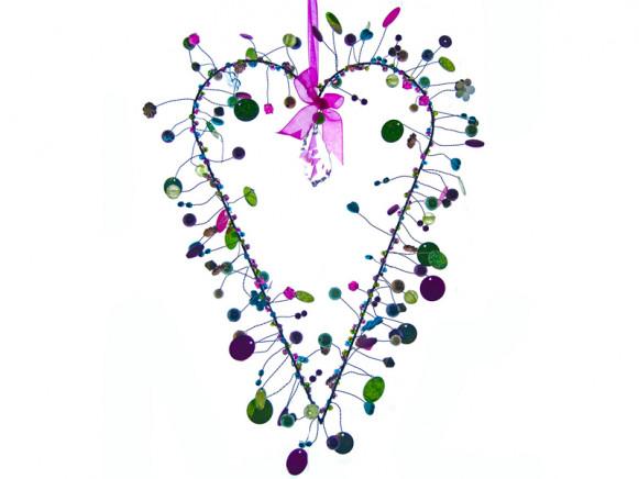 Taj Wood Funkel decoration heart crystal