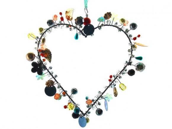 Taj Wood Funkel heart 13 cm