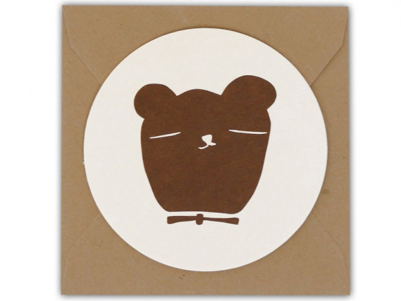 Ted & Tone Rounded Gift Card BEAR small