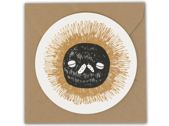 Ted & Tone Rounded Gift Card LION (10 x 10 cm)