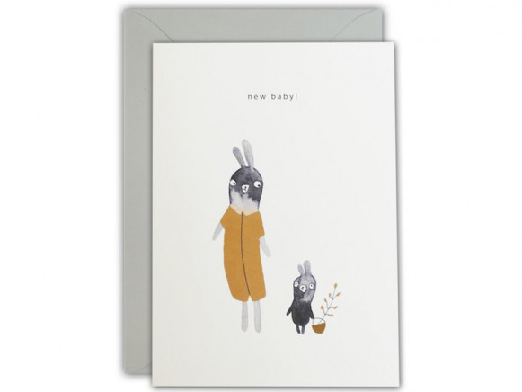 Ted & Tone Greeting Card NEW BABY