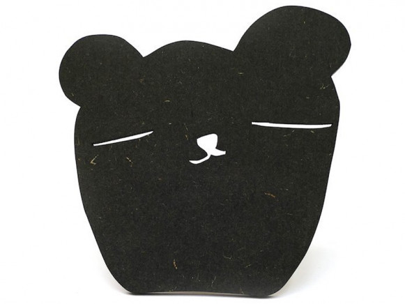 Ted & Tone Wall Hook BEAR black