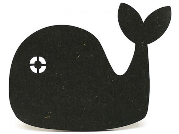 Ted & Tone Wall Hook WHALE black