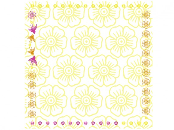 Tablecloth Mina in yellow by Overbeck and Friends