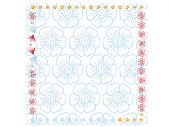 Tablecloth Mina in blue by Overbeck and Friends